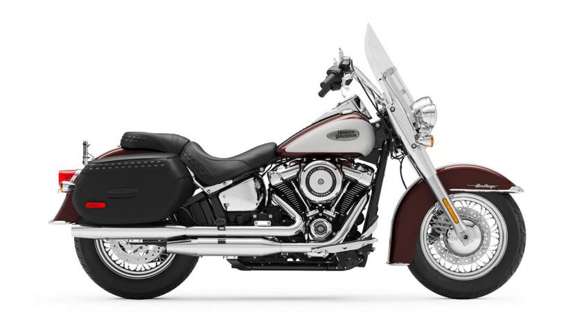 Midnight Crimson Stoned Washed White Pearl ( 107 Engine with Chrome Finish