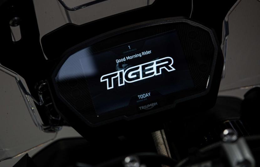 Tiger 850 Sport - TFT instruments